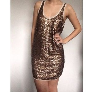 Wilfred Aritzia Sequin Tank Party Mini Dress Med